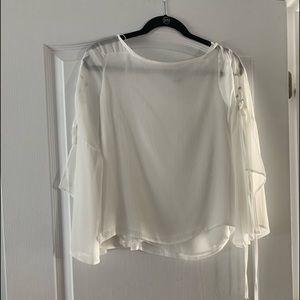 Beautiful sheer white shirt top shop. Worn once.